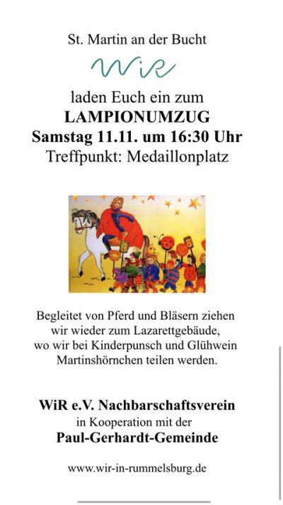 WiR – Wohnen in der Rummelsburger Bucht Nachbarschaftsverein – Sankt Martinsumzug 2017