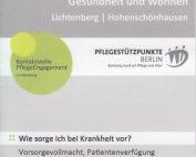 WiR – Wohnen in der Rummelsburger Bucht Nachbarschaftsverein – Informationsreihe rund um Pflege, Gesundheit und Wohnen – Informationsveranstaltung