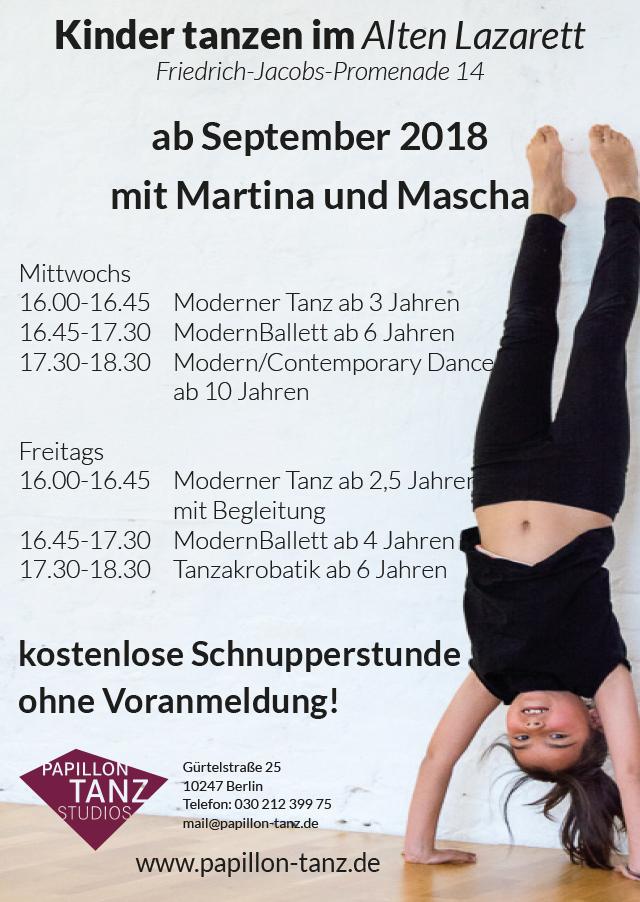 WiR – Wohnen in der Rummelsburger Bucht Nachbarschaftsverein – Tanzen für Kinder im Alten Lazarett in Rummelsburg