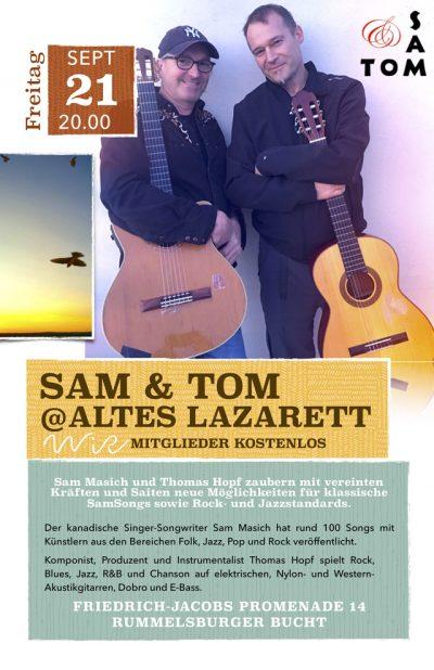 WiR – Wohnen in der Rummelsburger Bucht-Nachbarschaftsverein – Sam Masich und Thomas Hopf im Alten Lazarett