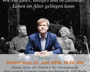 WiR – Wohnen in der Rummelsburger Bucht Nachbarschaftsverein – Hajo Schumacher, Restlaufzeit am 21.06.2018 im Alten Lazarett