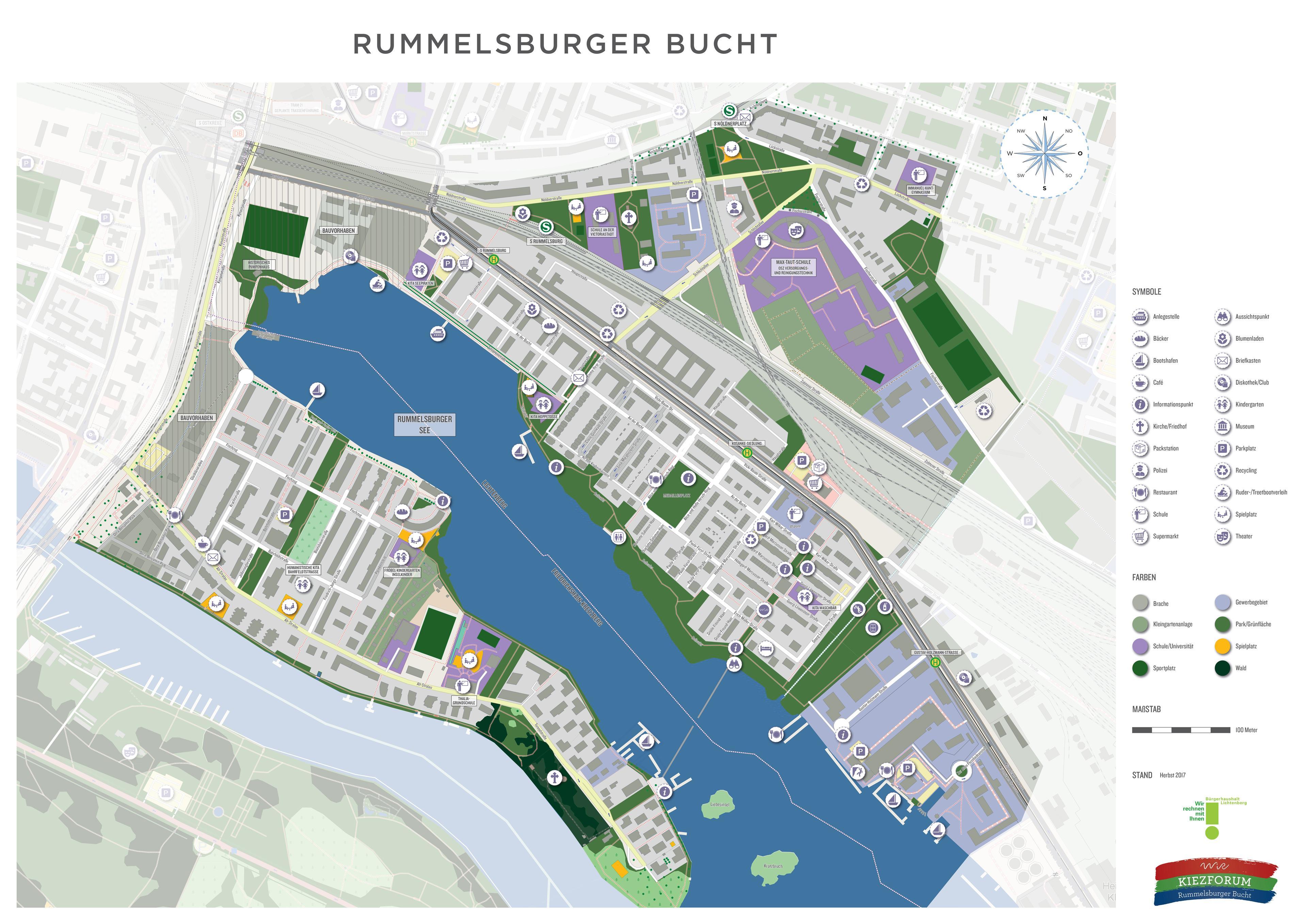 WiR – Wohnen in der Rummelsburger Bucht Nachbarschaftsverein – Kiezkarte Rummelsburger Bucht